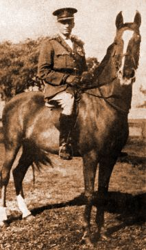 Walter Francis Stirling on an Arab mare given to him by Emir Faisal
