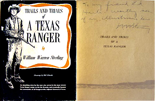William Warren Sterling book - Trails and Trials of a Texas Ranger